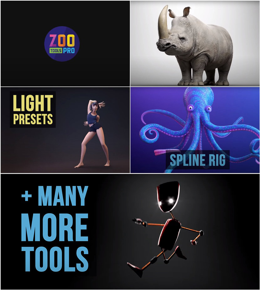 Create 3d Characters - Zoo Tools Pro 2.5.0 For Maya