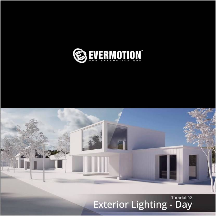 Evermotion - Free archviz training online - Exterior Lighting