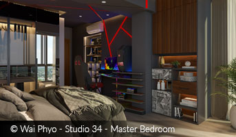 Image of Master Bedroom by Wai Phyo