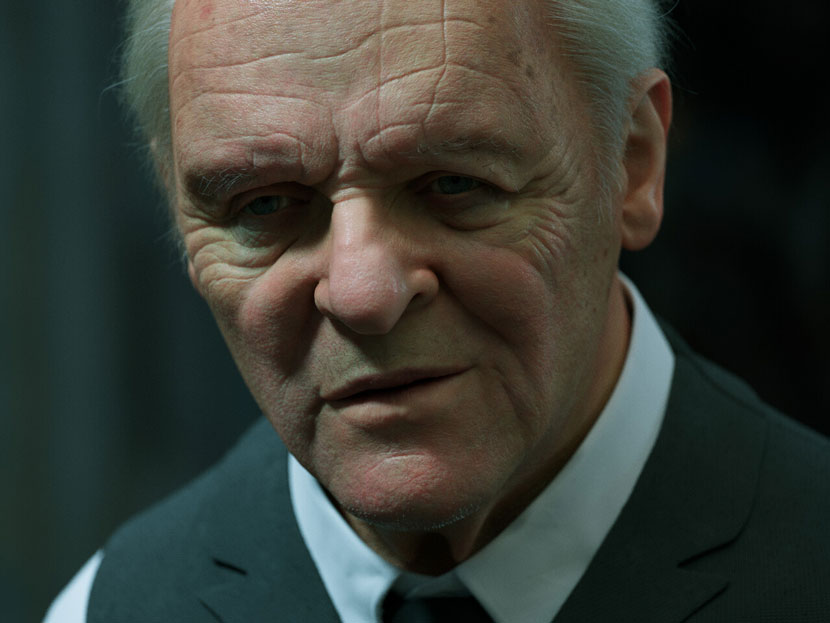 Anthony Hopkins rendered portrait